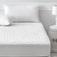 Protector de colchón acolchado de microfibra impermeable y transpirable