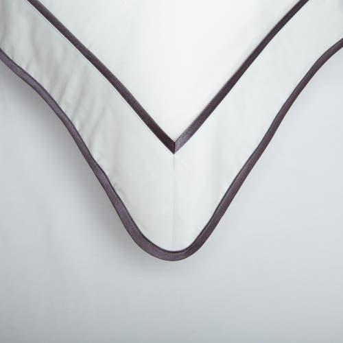 550 Hilos Algodón Egipcio Satén Colección Mónaco - Borde Gris Antracita - Funda de almohada con marco