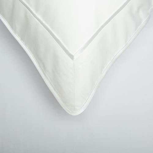 550 Hilos Algodón Egipcio Satén Colección Mónaco - Borde Blanco - Funda de almohada con marco