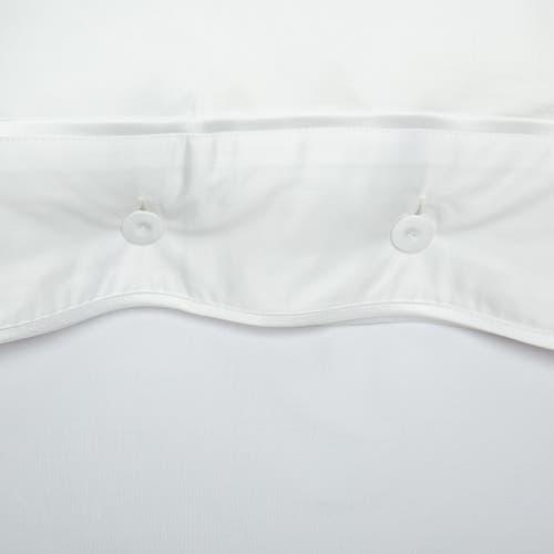 550 Hilos Algodón Egipcio Satén Colección Mónaco - Borde Blanco - Funda de almohada con Botones