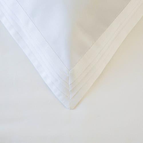 600 Hilos Algodón Egipcio Satén Colección  Triple Plisado - Funda de almohada