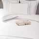 Ropa de cama Mónaco 550 Hilos Satén Algodón Egipcio- Borde Azul Platino