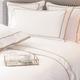 Ropa de cama Mónaco 550 Hilos Satén Algodón Egipcio- Borde Beige